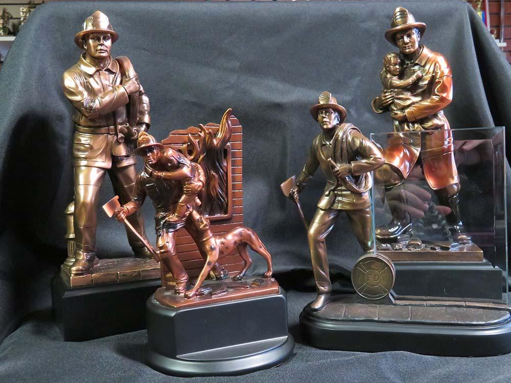 Fireman trophies