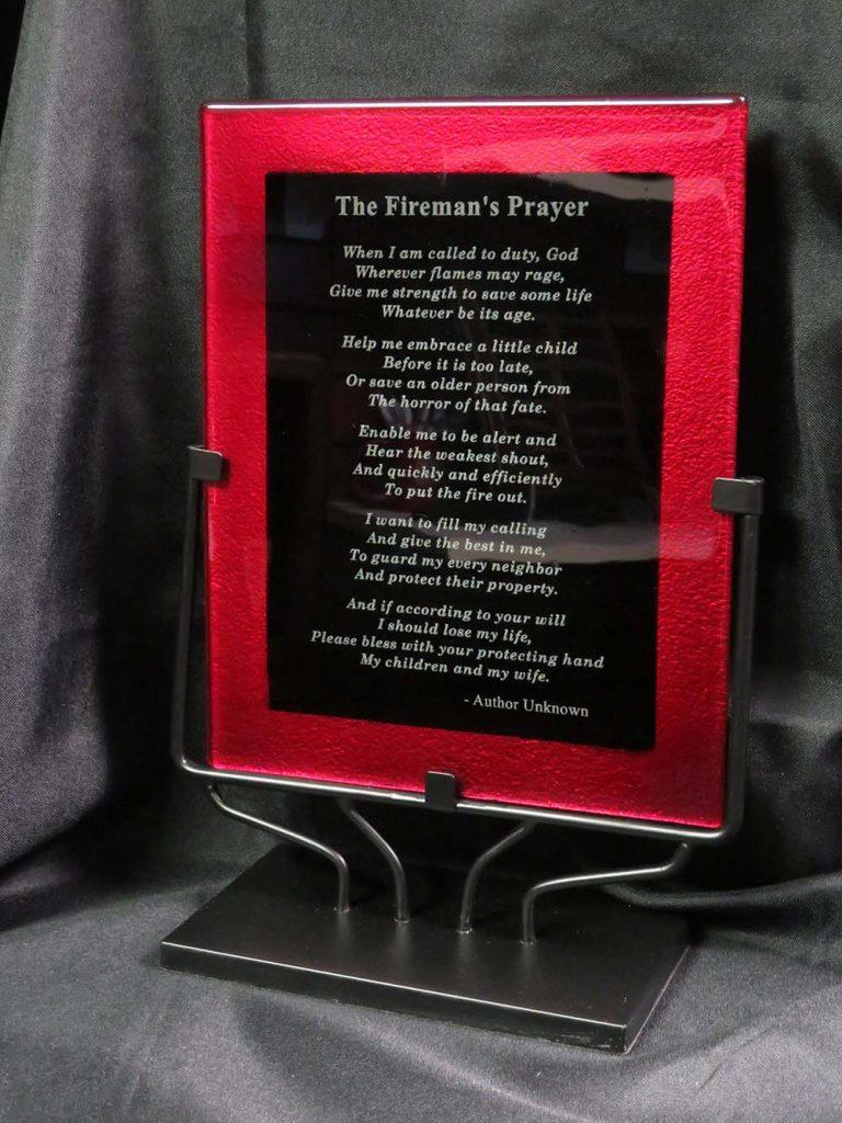fireman plaque