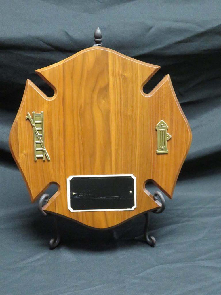 Wood blank fireman plaque