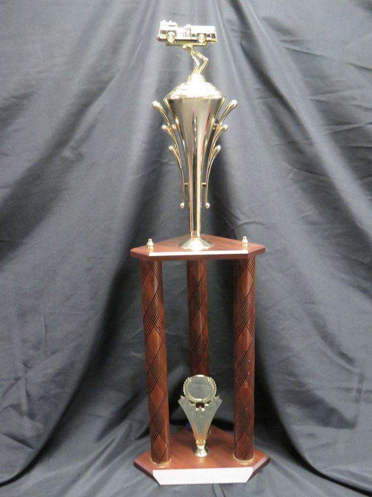 tall firetruck trophy