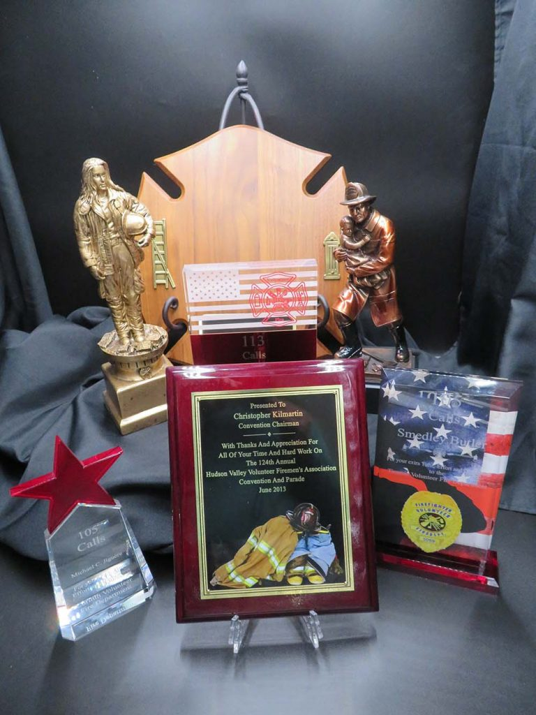 fireman trophies and plaques