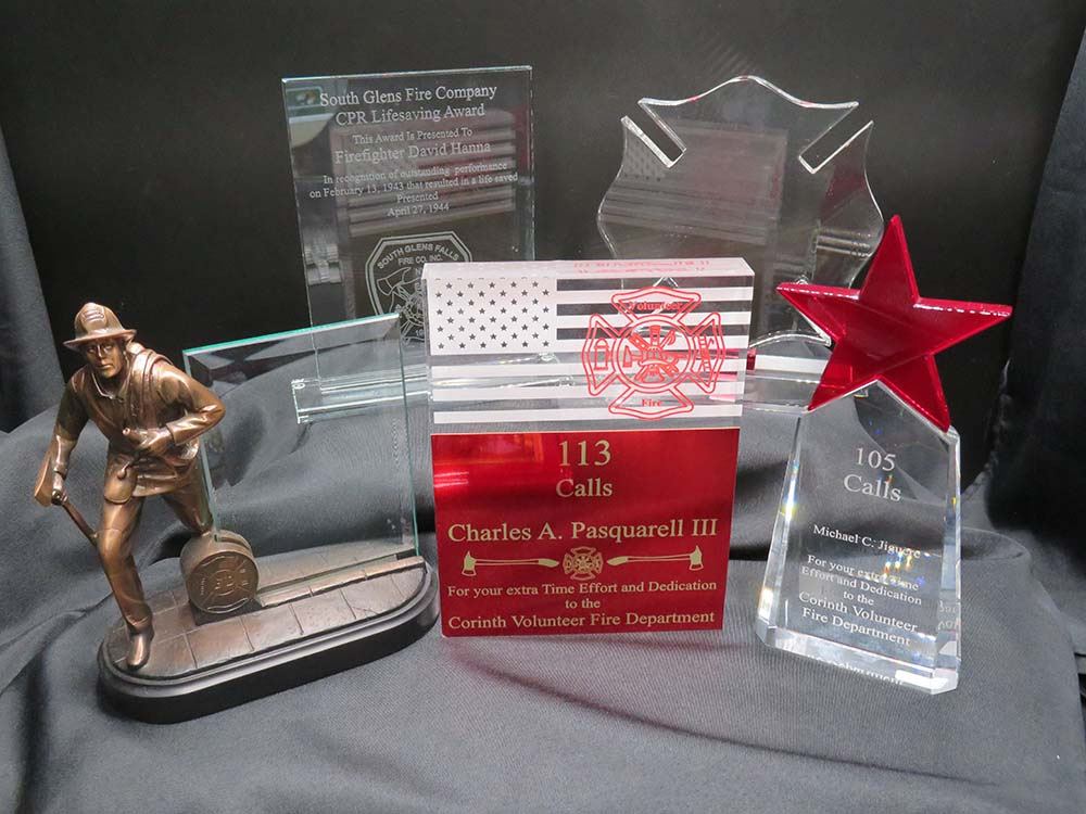 Fireman award plaques