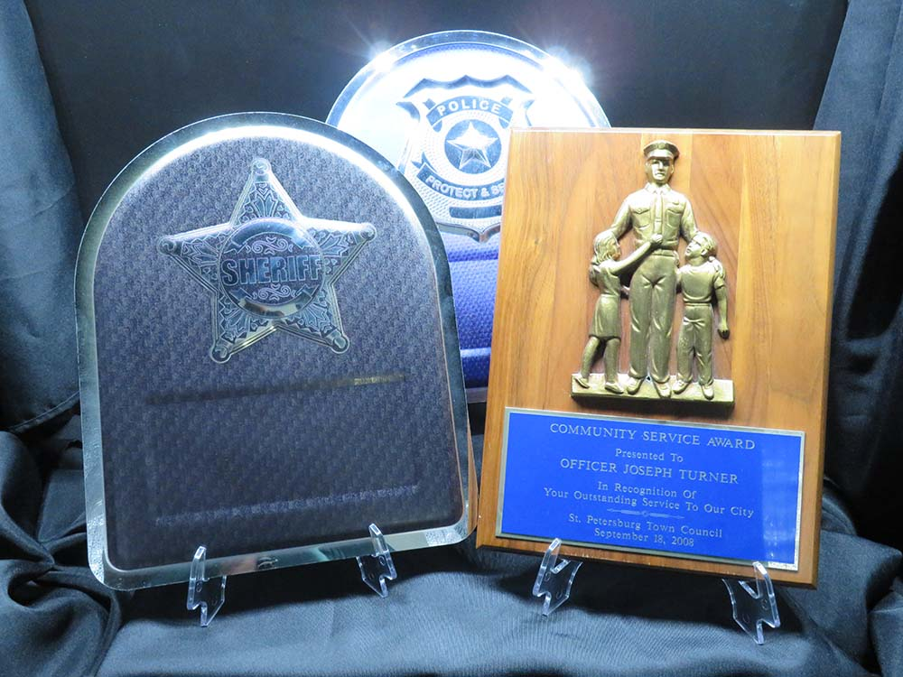 Police and sheriff award plaques