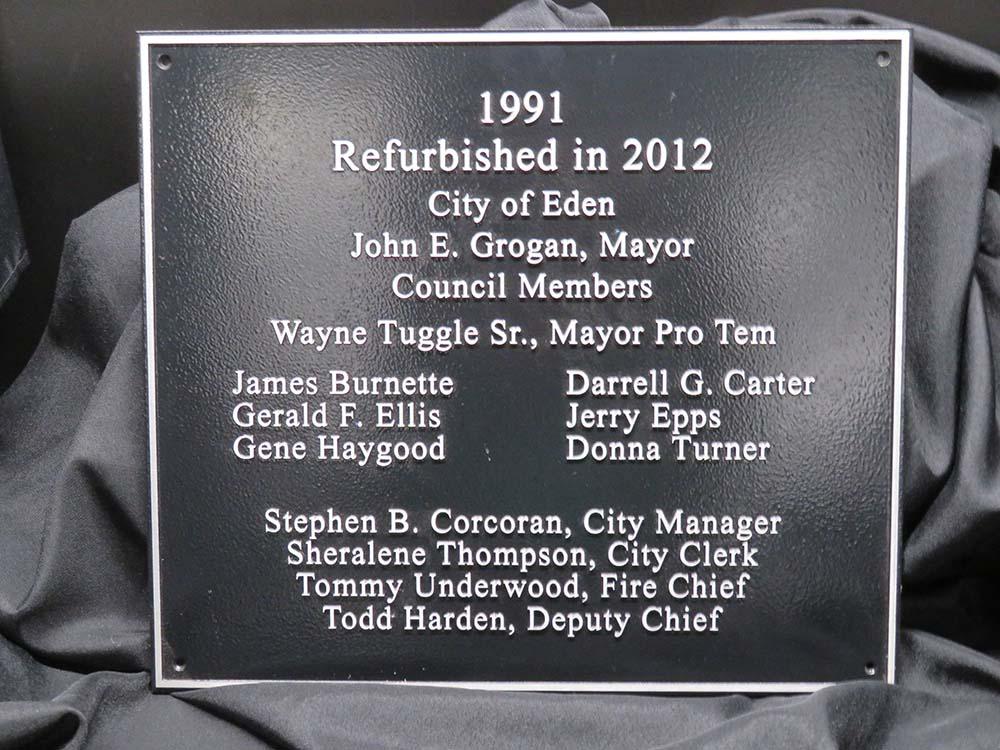 Square cast metal plaque