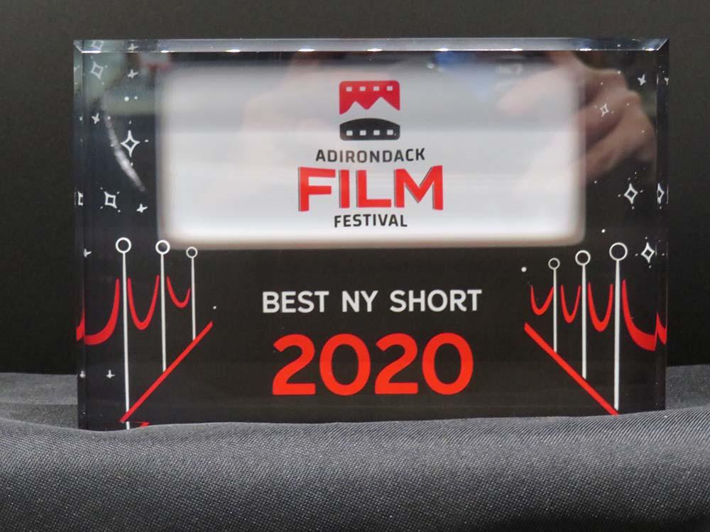Film Festival award plaque