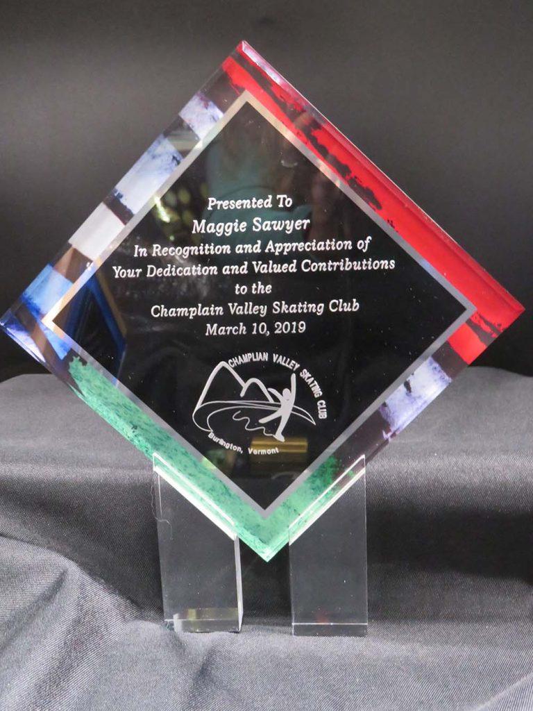 clear plastic award plaque