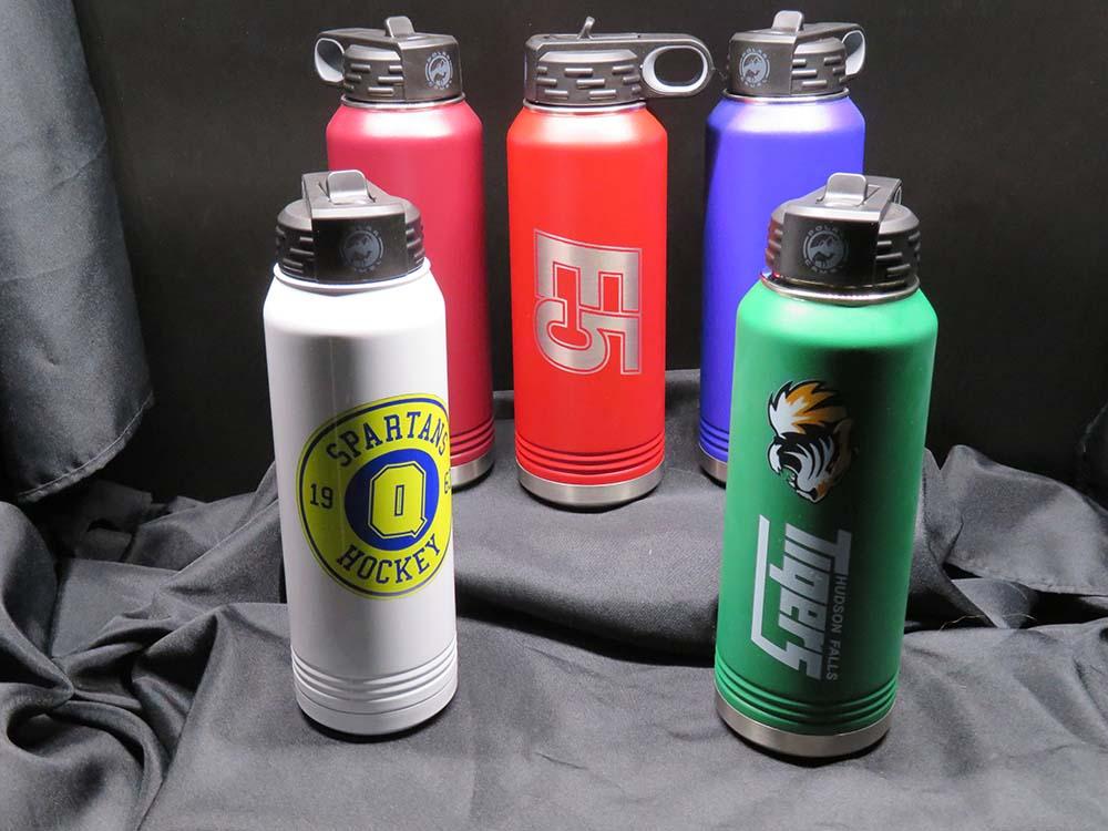 Sports team logos on Metal water bottles