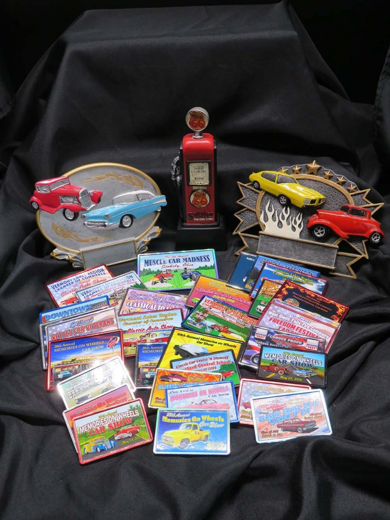 Car show Fridge Magnets  and cast metal awards