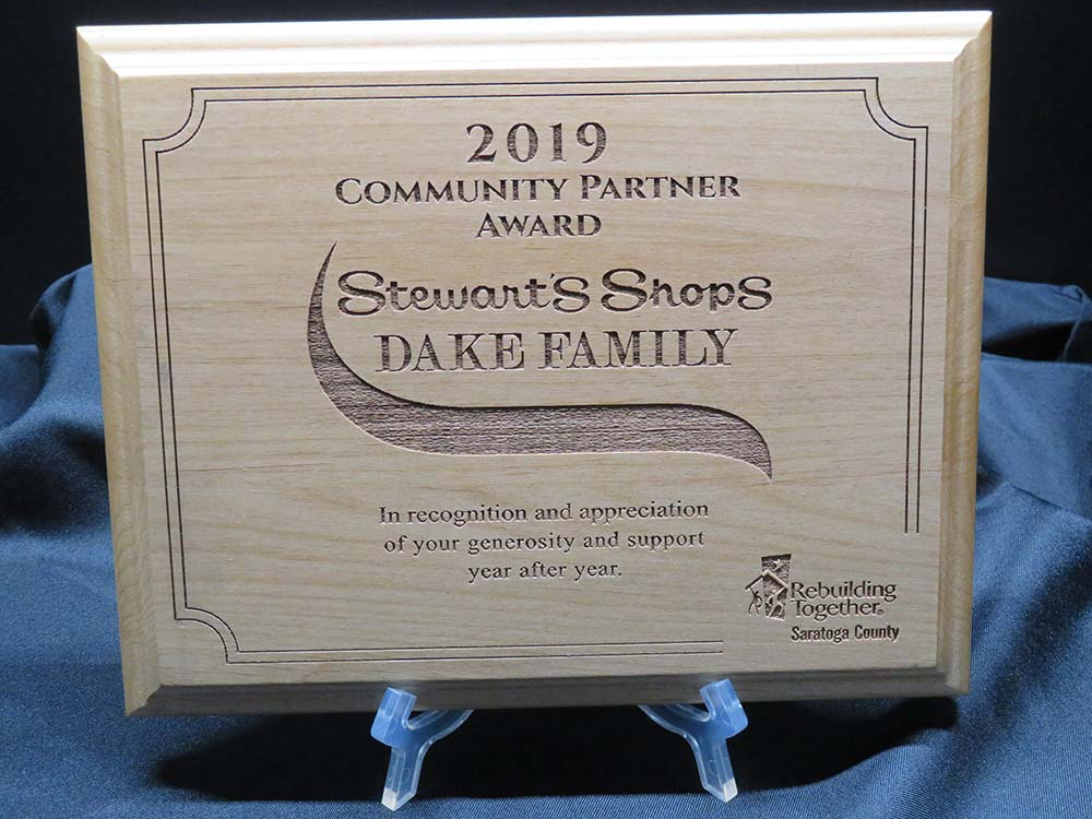 Thank You plaques for Stewart's Shops