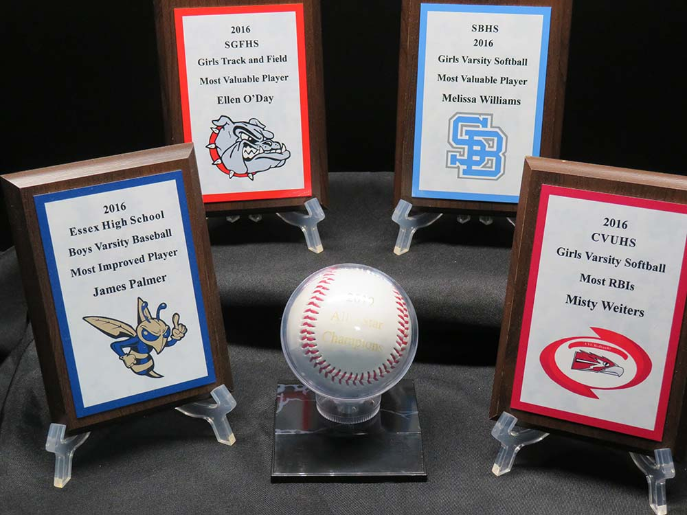 MVP plaques for high school sports