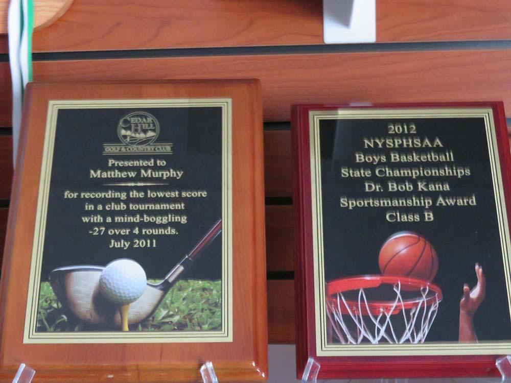 Wood high school sports plaques