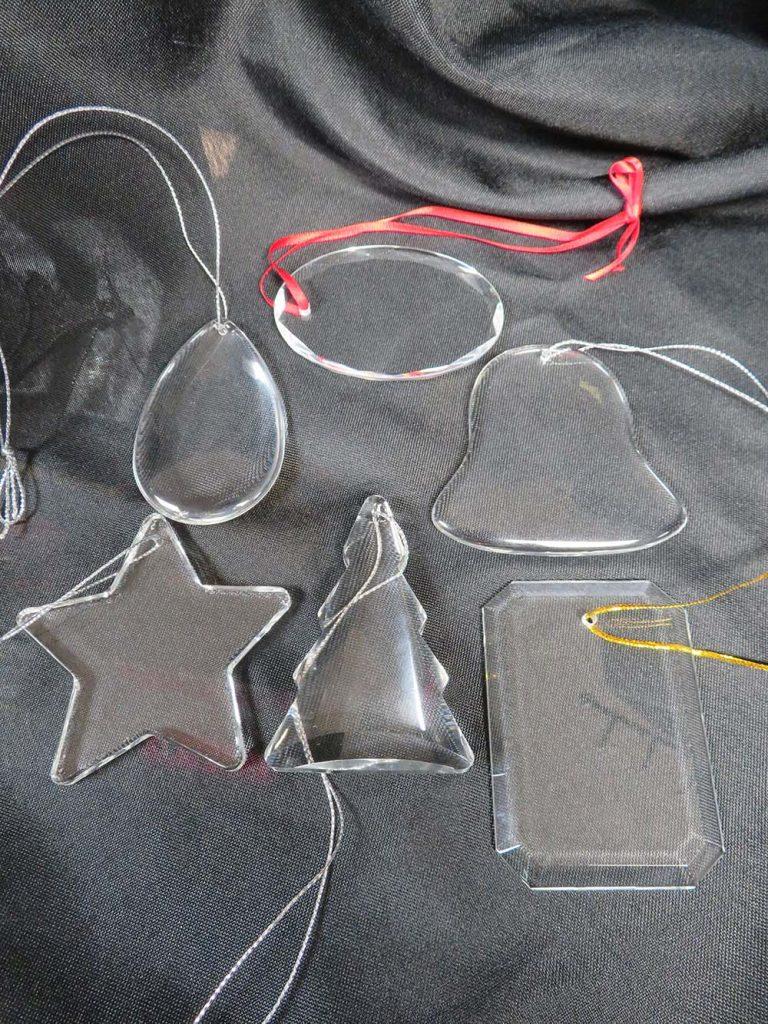 Blank glass ornaments