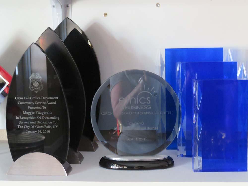plastic award plaques