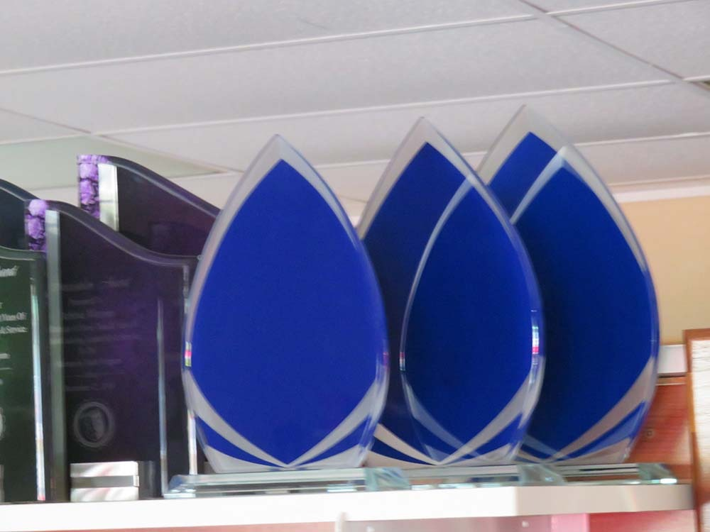 blank glass plaques