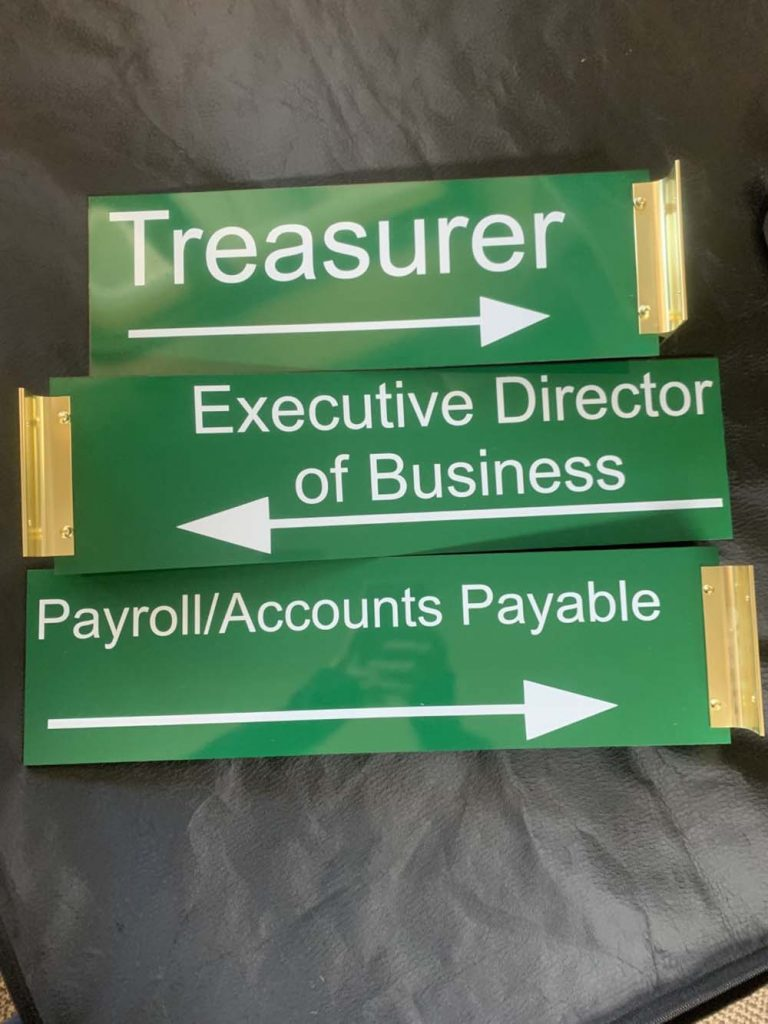 Office direction signs