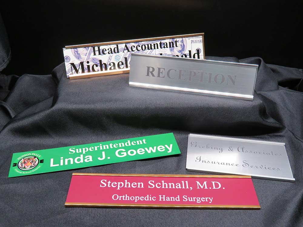 Desk and wall name tags