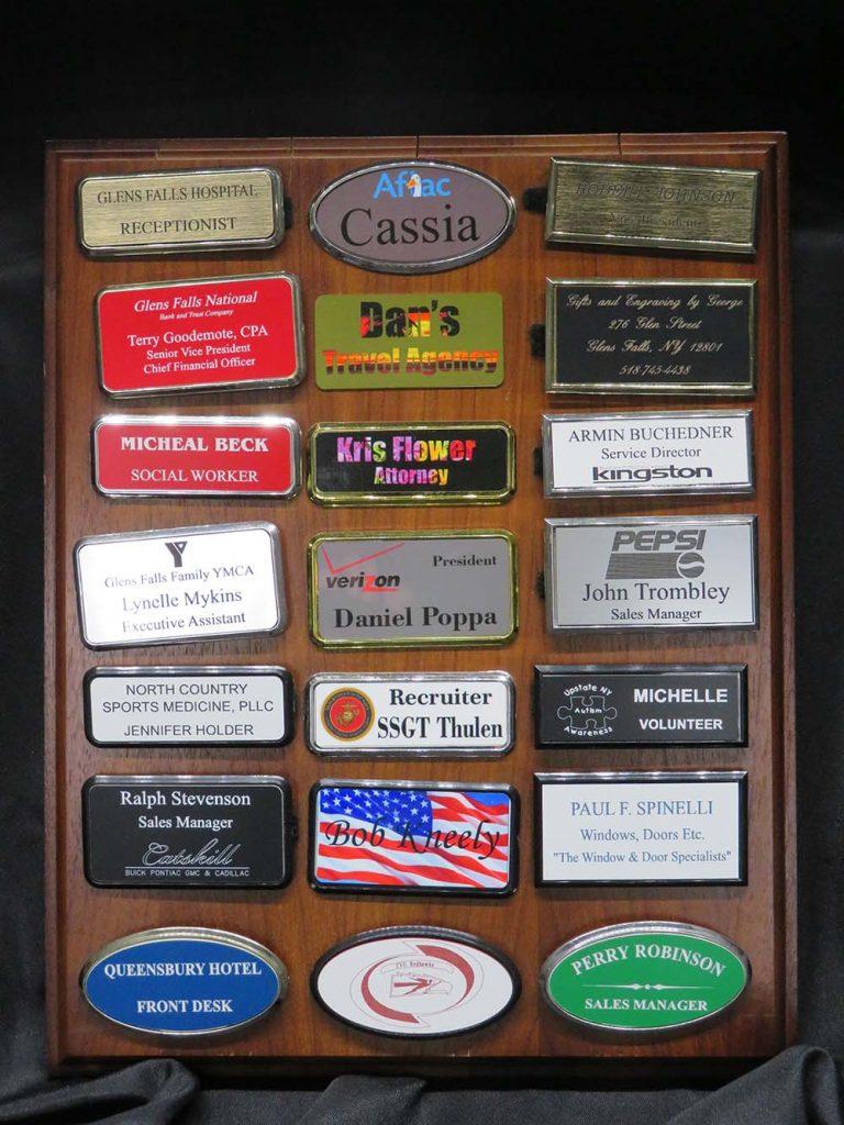 Name tag display