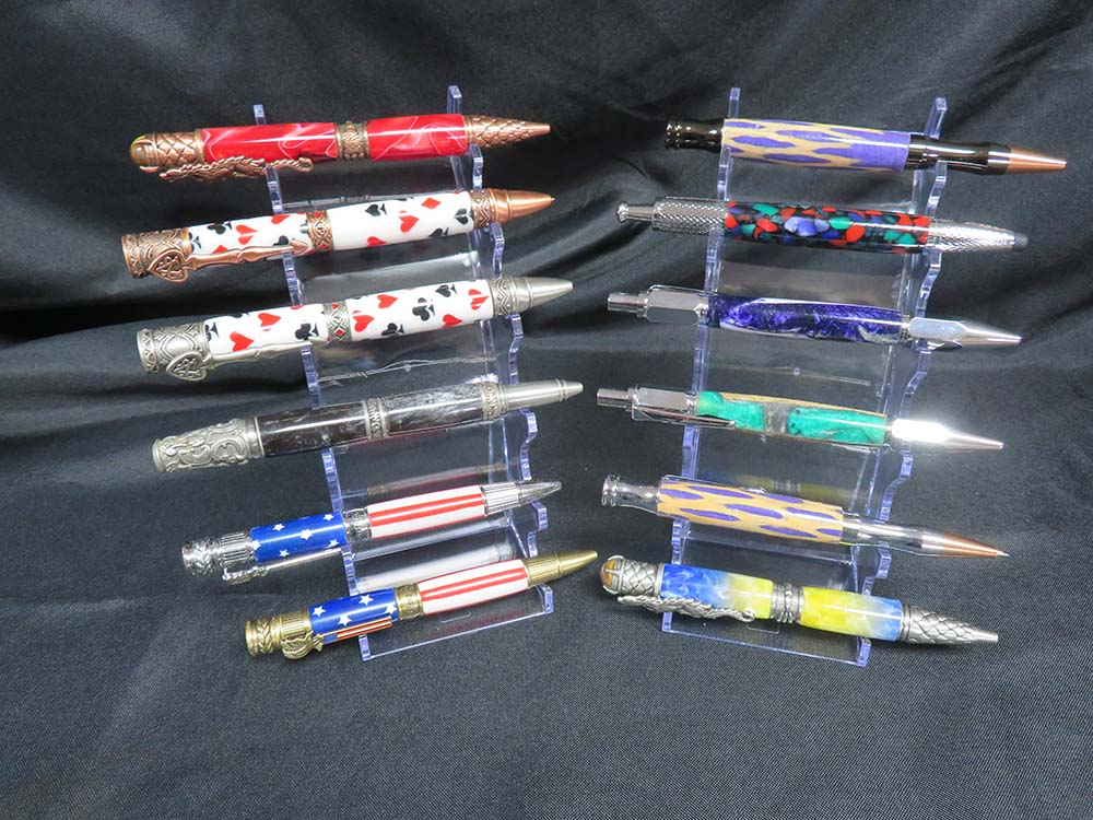 pens on display