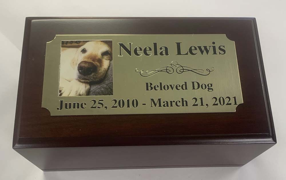 memorial plague for dog