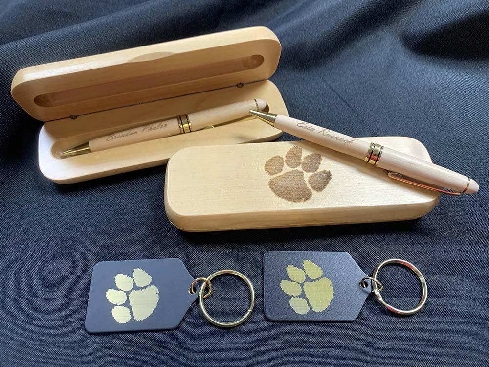 Wood pens in Wood case