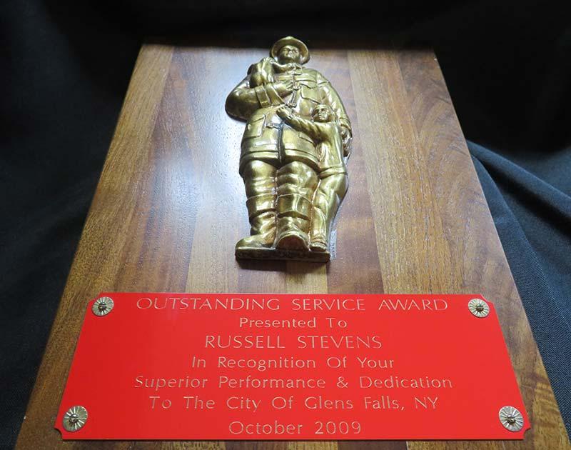 Service award plaque