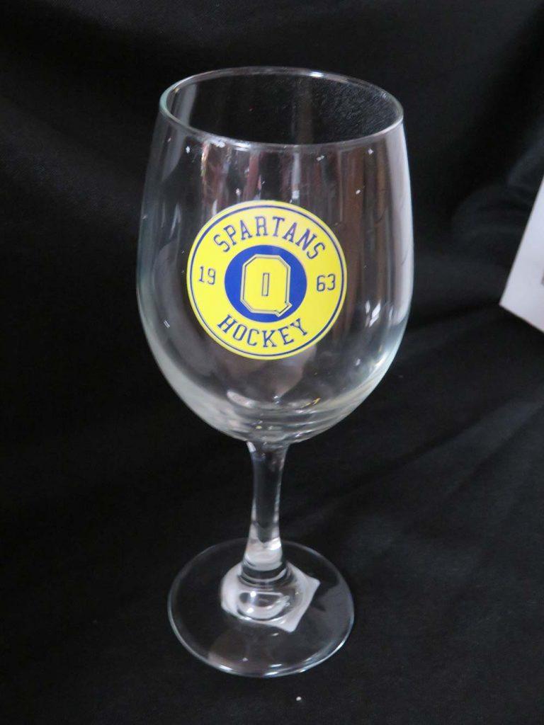 Wine Glass with School Logo